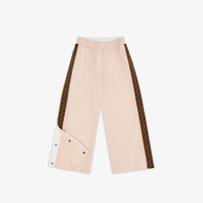 FENDI JUNIOR TROUSERS - Pink tech fabric junior trousers - view 1 detail