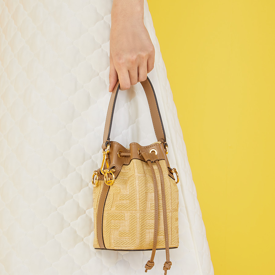 FENDI MON TRESOR - Beige raffia mini bag - view 2 detail