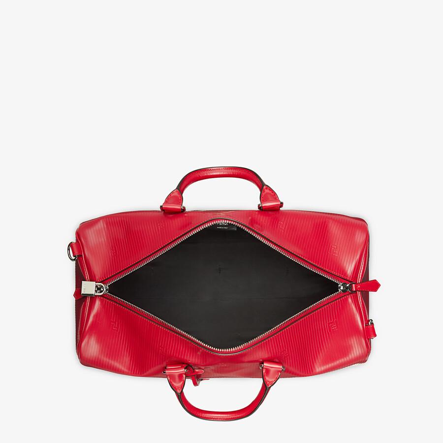 FENDI MEDIUM DUFFEL - Red leather large bag - view 4 detail