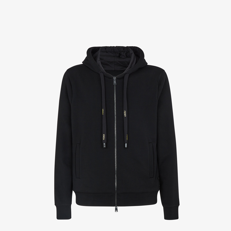FENDI SWEATSHIRT - Black jersey jumper - view 1 detail