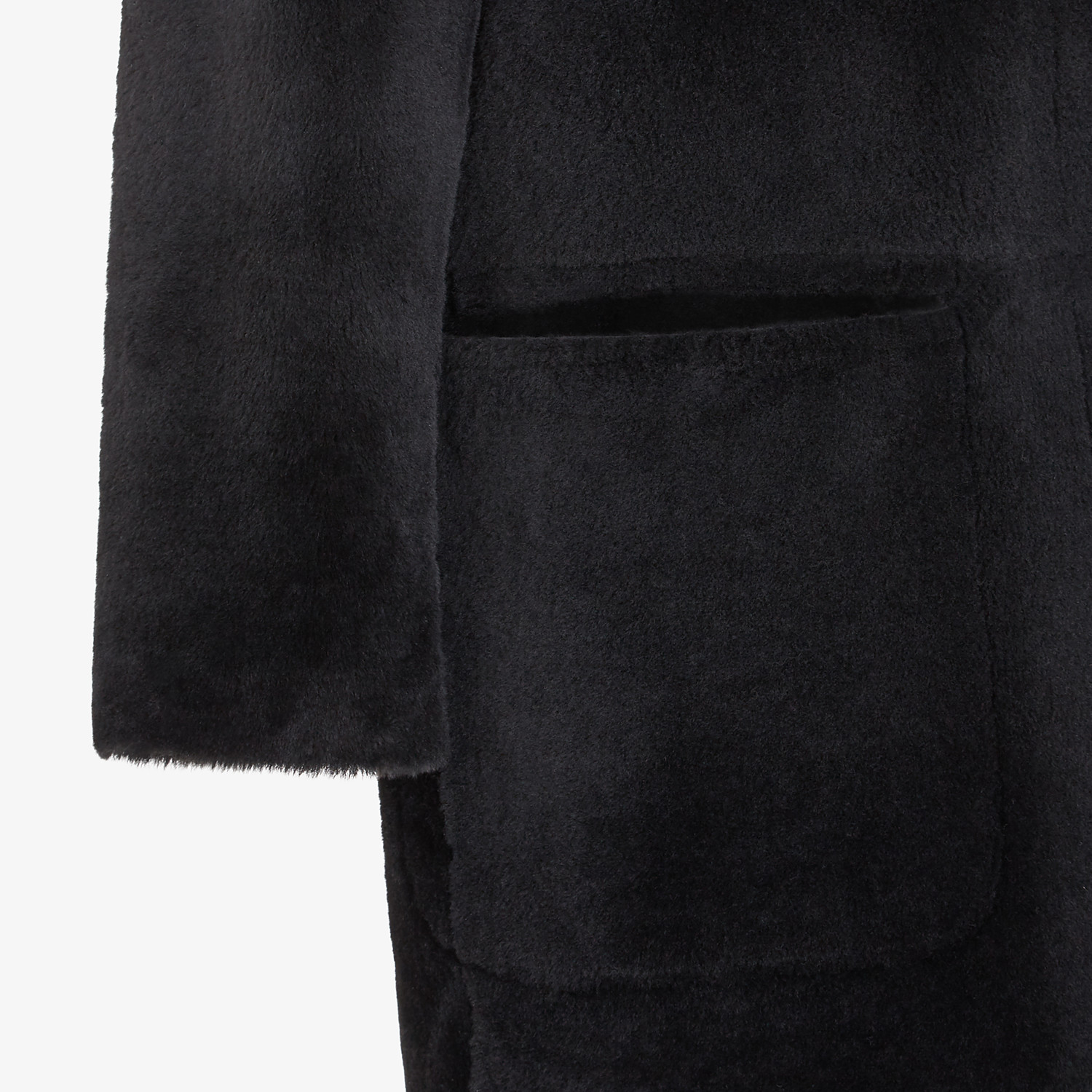 FENDI COAT - Black shearling coat - view 3 detail