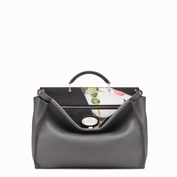 FENDI PEEKABOO REGULAR - Black leather bag - view 1 small thumbnail