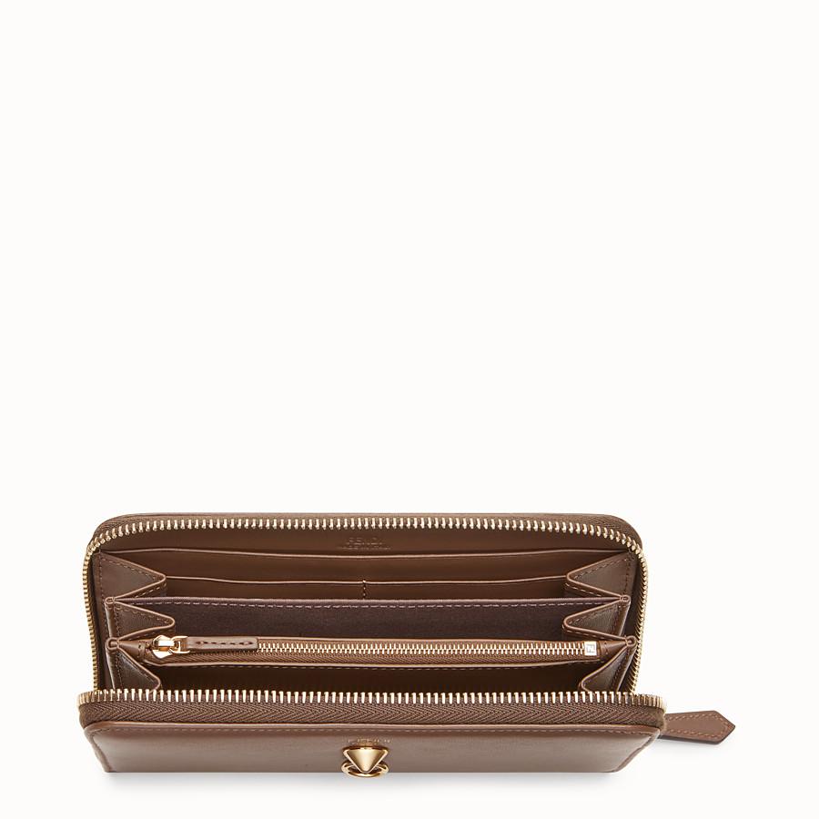 FENDI ZIP-AROUND - Brown leather wallet - view 4 detail