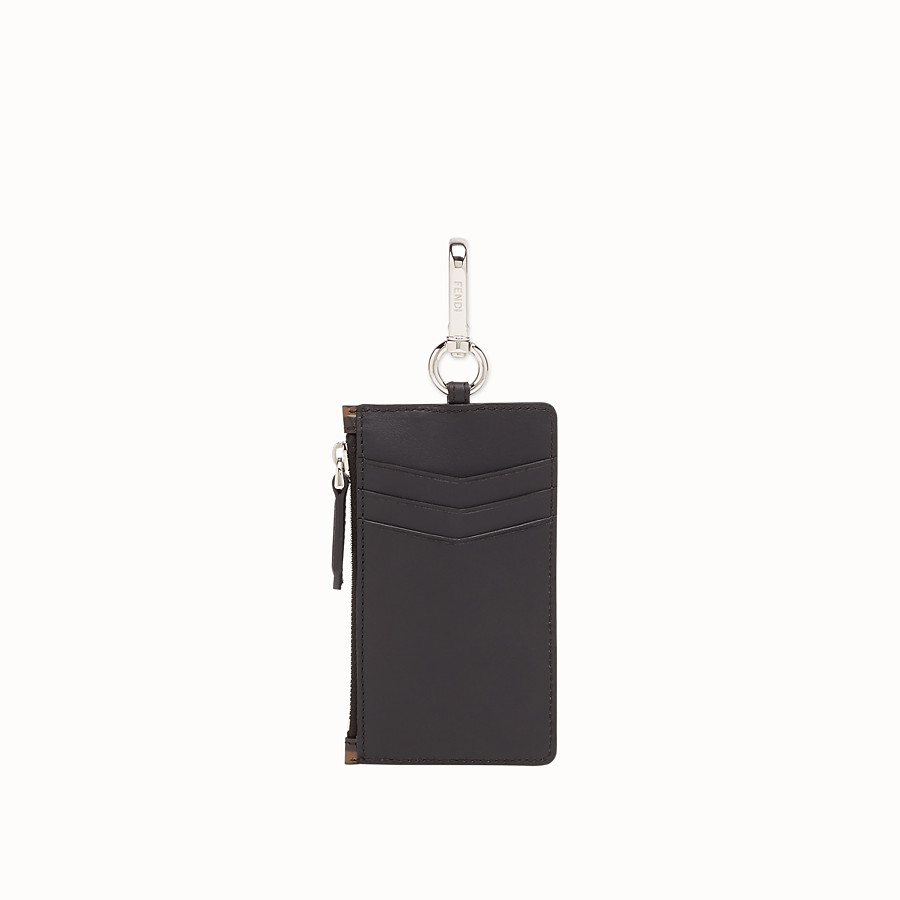 FENDI KEY RING - Brown leather card holder - view 2 detail