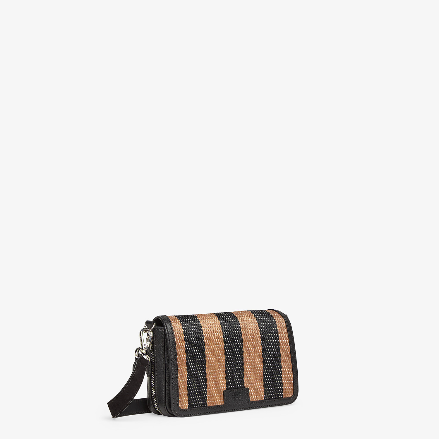 FENDI FLAP BAG - Brown raffia bag - view 2 detail