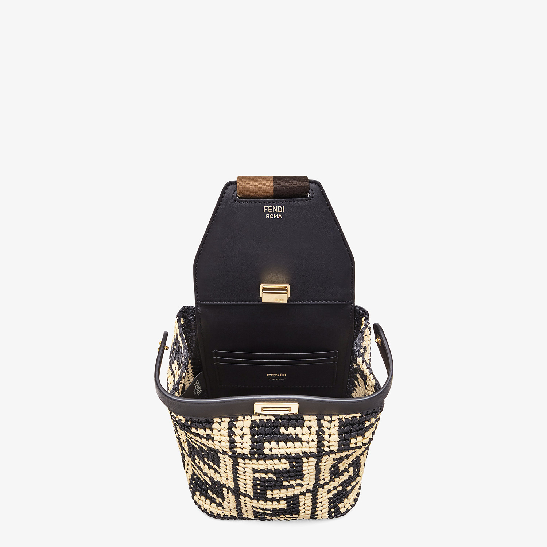 FENDI GUITAR BAG - Black raffia mini-bag - view 4 detail