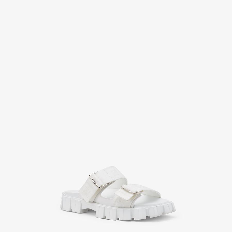 FENDI SANDALS - White fabric sandals - view 2 detail