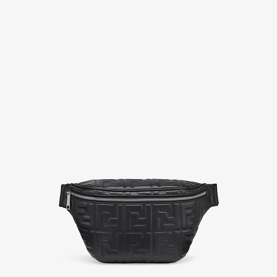 FENDI BELT BAG - Black nappa leather belt bag - view 1 detail