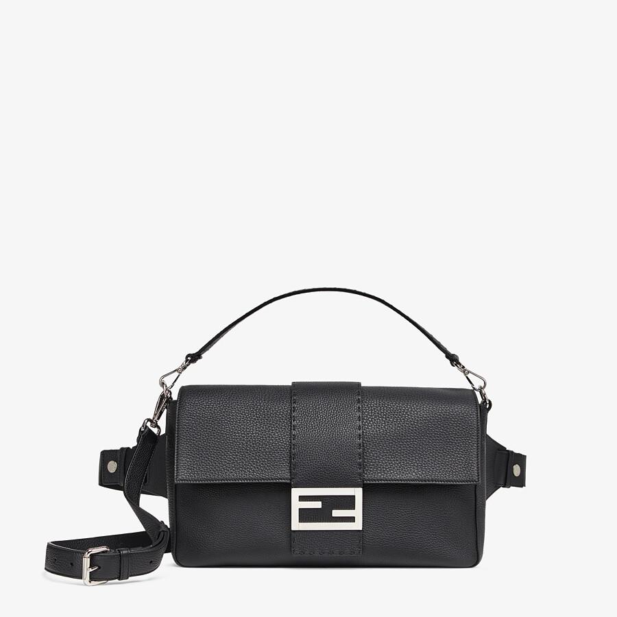 FENDI BAGUETTE LARGE - Black, calf leather bag - view 1 detail