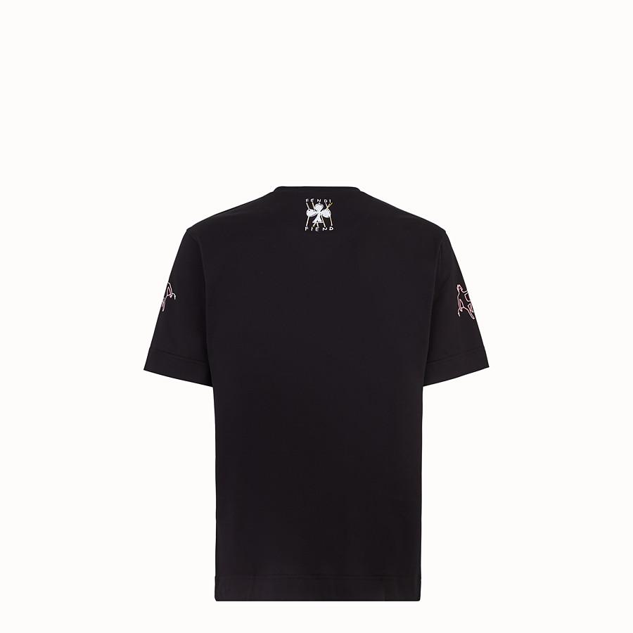 FENDI CAMISETA - Camiseta de algodón negro - view 2 detail