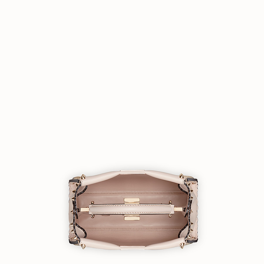 FENDI PEEKABOO MINI - Grey leather bag - view 4 detail