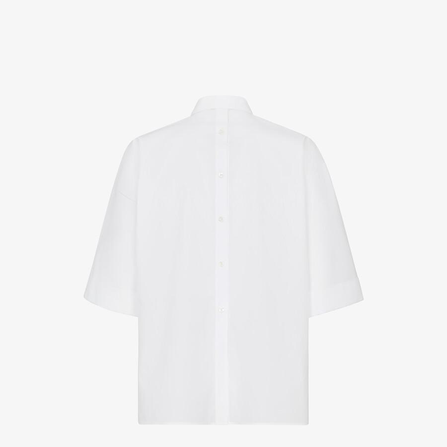 FENDI SHIRT - White poplin shirt - view 2 detail