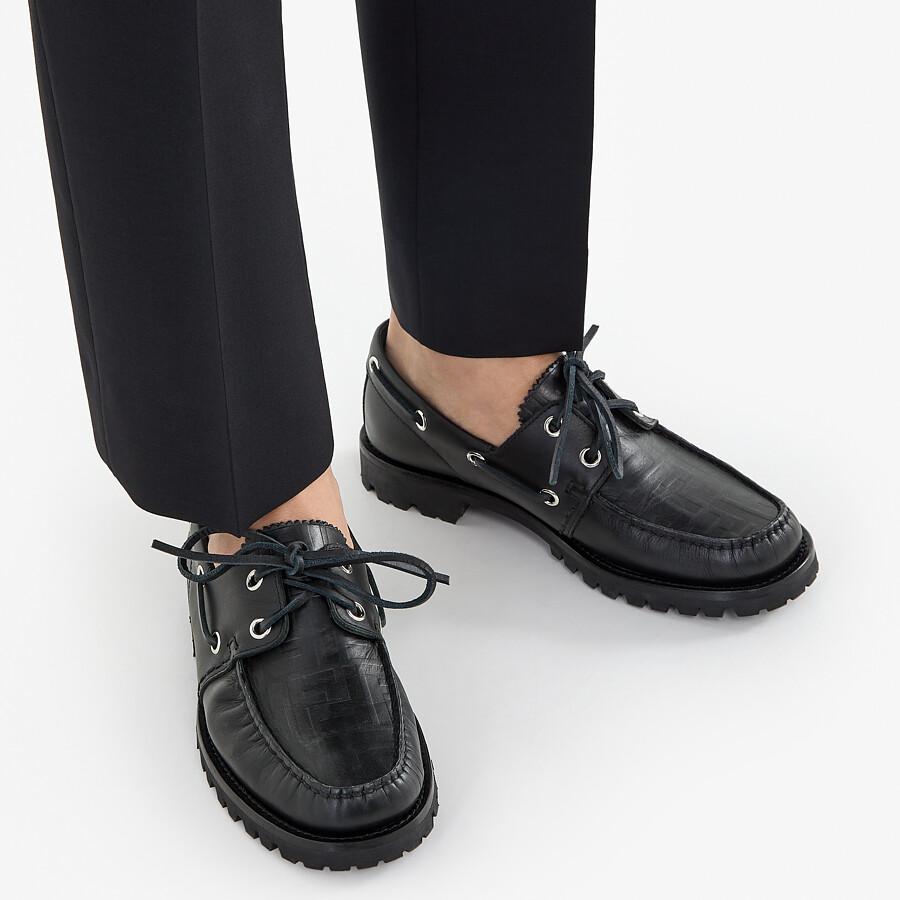 FENDI LOAFERS - Black leather loafers - view 5 detail