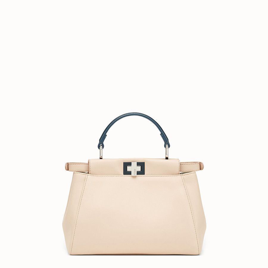 FENDI PEEKABOO MINI - Beige leather bag - view 3 detail