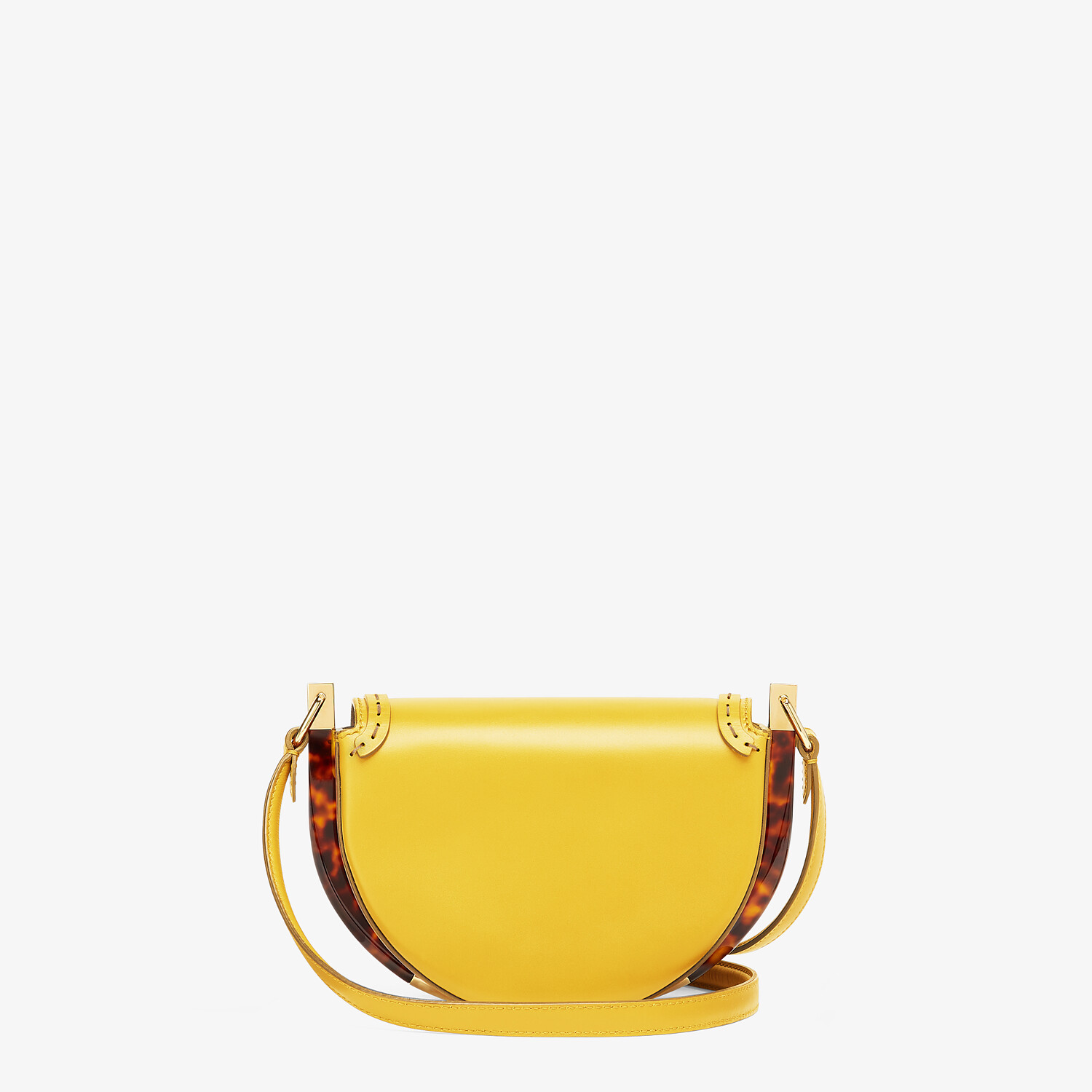 FENDI MOONLIGHT - Yellow leather bag - view 3 detail