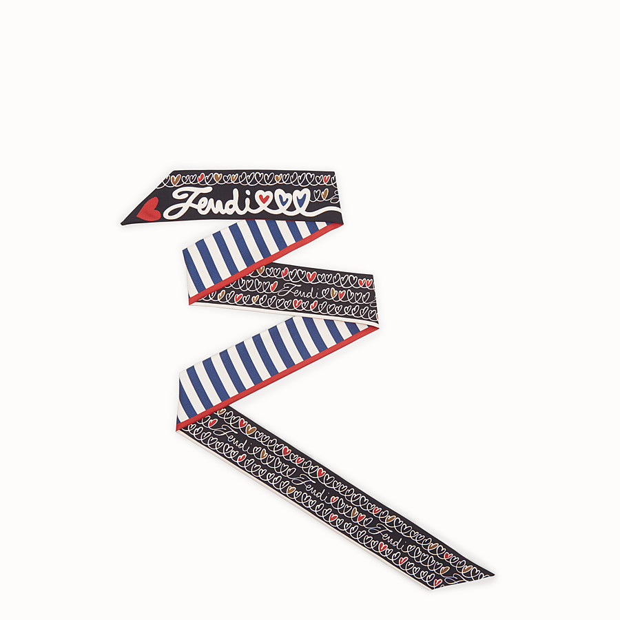 "FENDI WRAPPY ""Open your Heart"" - Bandana de seda multicolor - view 1 detail"