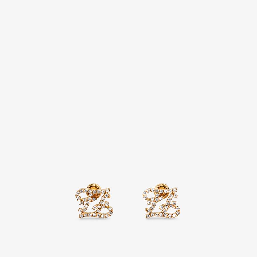 FENDI KARLIGRAPHY EARRINGS - Gold-colored earrings - view 1 detail