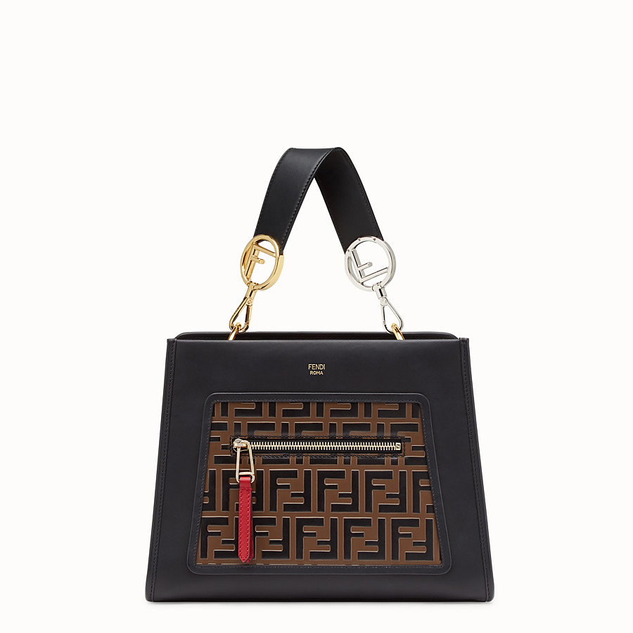 FENDI RUNAWAY SMALL - Multicolour leather bag - view 1 detail