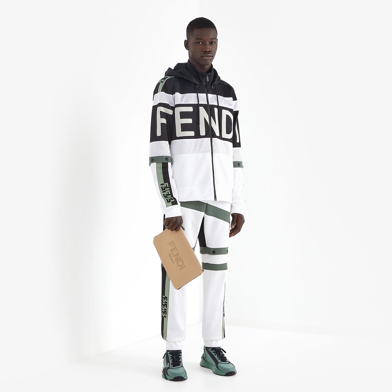 FENDI PANTS - Multicolor jersey pants - view 4 detail
