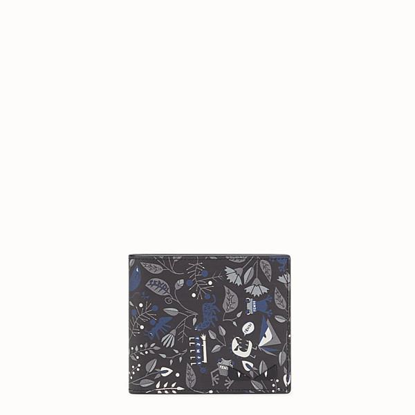 FENDI WALLET - Printed black leather bi-fold - view 1 small thumbnail