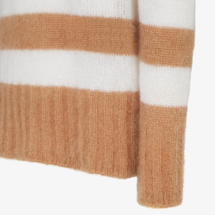 FENDI PULLOVER - Multicolor mohair pullover - view 3 detail