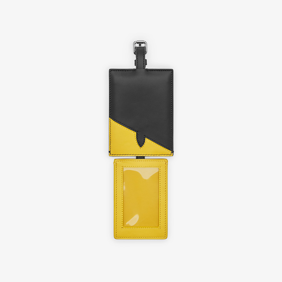FENDI ADDRESS CARD - Travel tag in yellow leather - view 2 detail