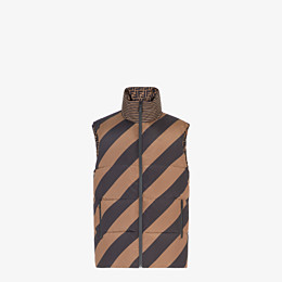 FENDI GILET - Brown nylon gilet - view 4 thumbnail