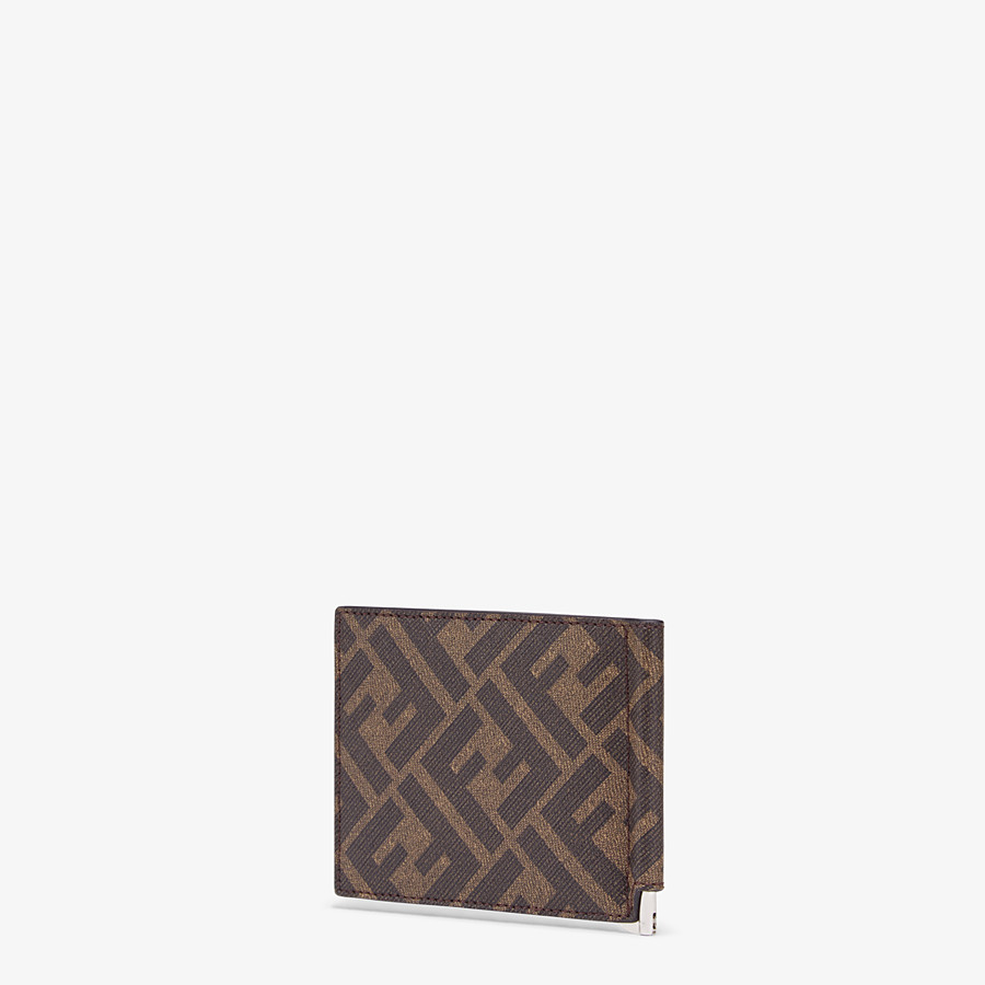 FENDI CARD HOLDER - Brown fabric money clip - view 2 detail