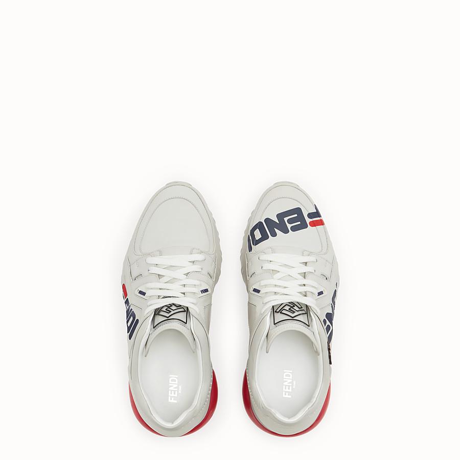 FENDI SNEAKER - Sneaker in pelle bianca - vista 4 dettaglio