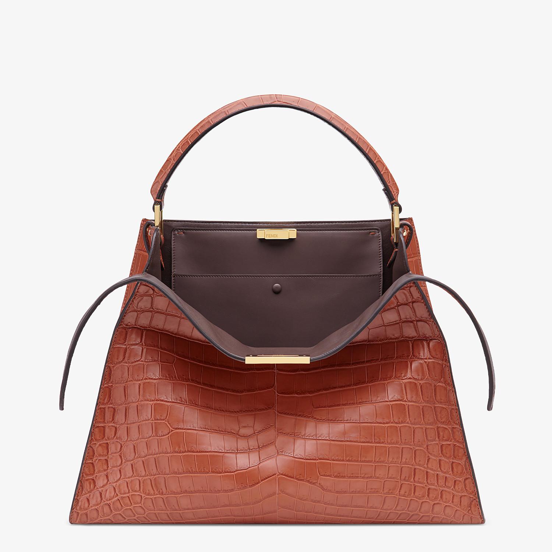FENDI PEEKABOO X-LITE LARGE - Red crocodile leather bag - view 1 detail