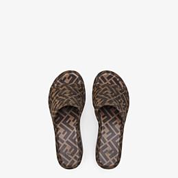 FENDI PLATFORMS - Brown fabric Promenades - view 4 thumbnail