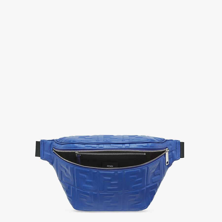 FENDI BELT BAG - Blue nappa leather belt bag - view 4 detail