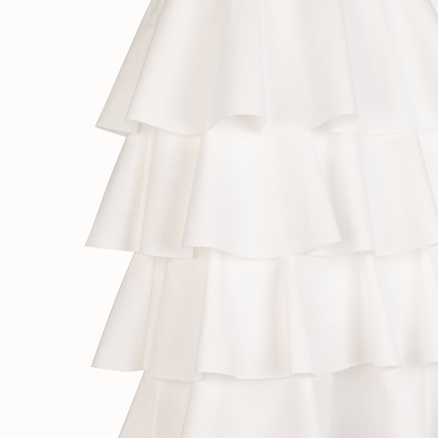FENDI SKIRT - White cotton skirt - view 3 detail