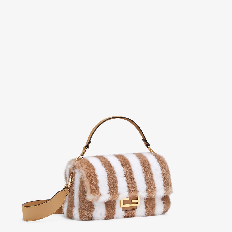FENDI BAGUETTE - White mink bag - view 2 detail