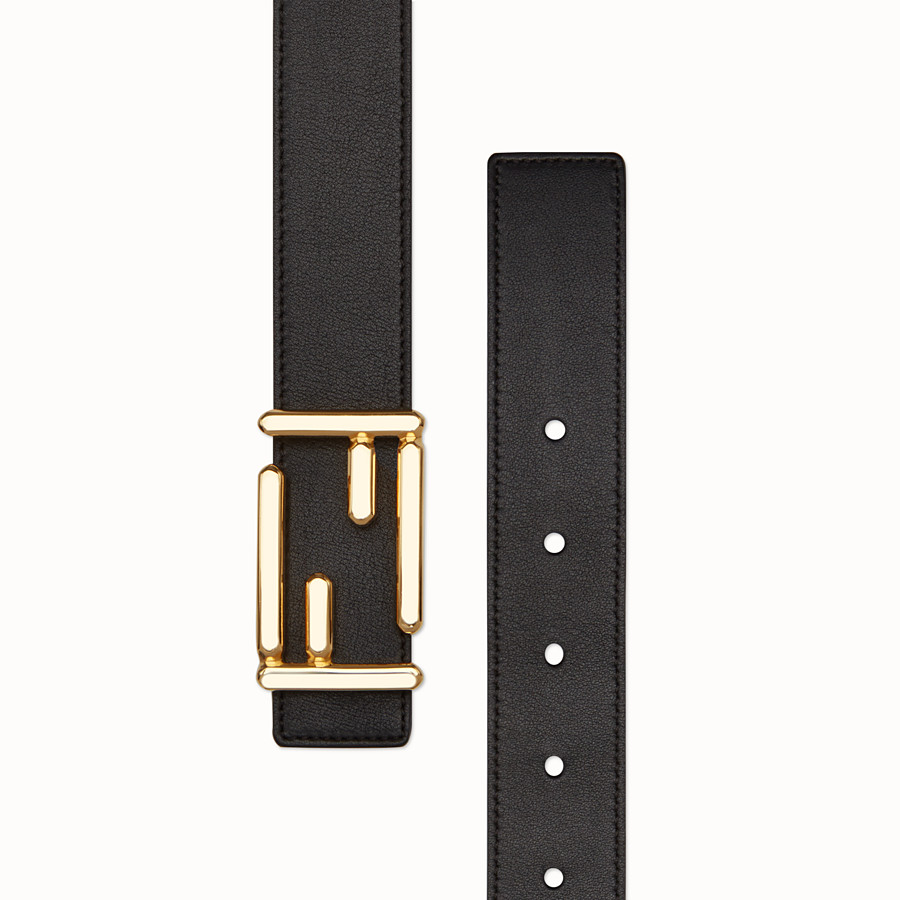 FENDI BAGUETTE BELT - in black calfskin - view 2 detail