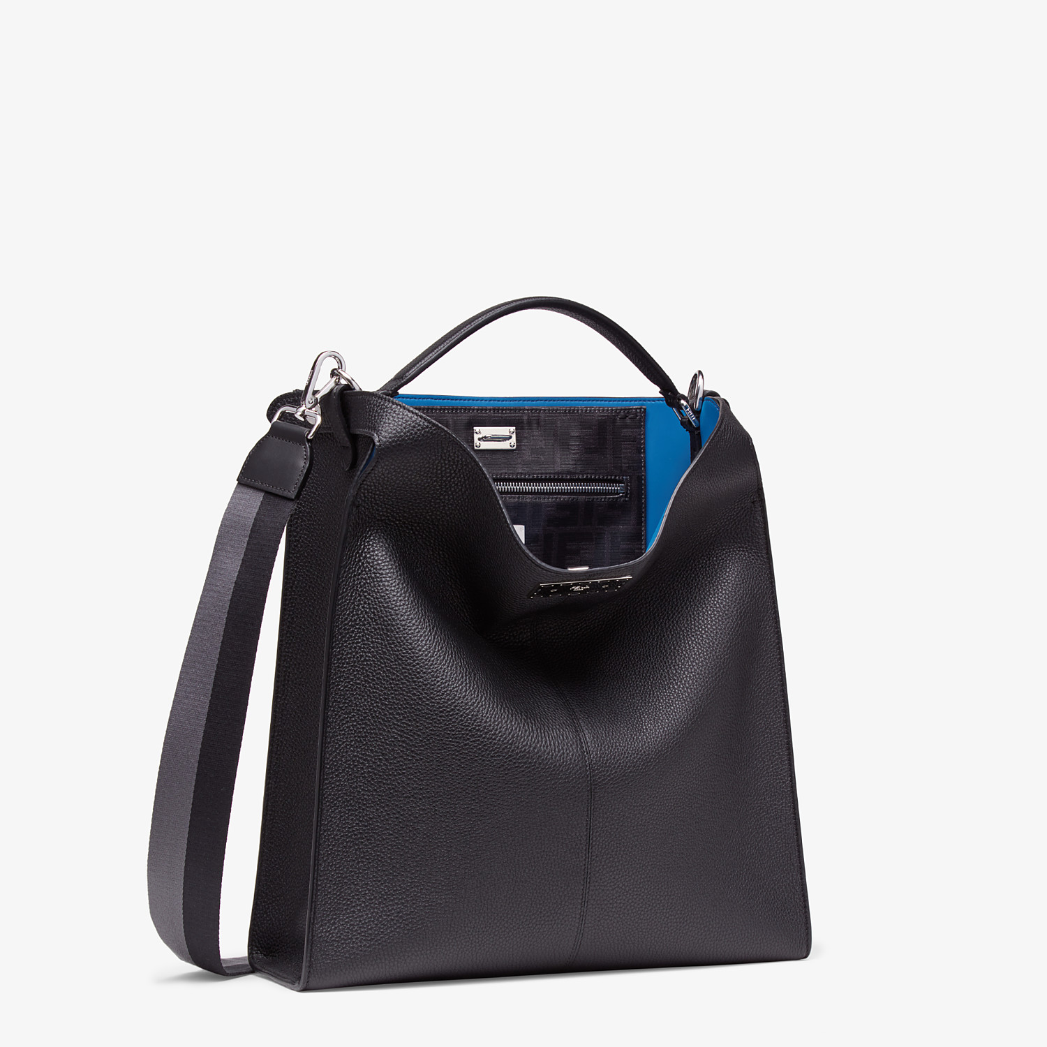 FENDI PEEKABOO X-LITE FIT - Black, calf leather bag - view 3 detail