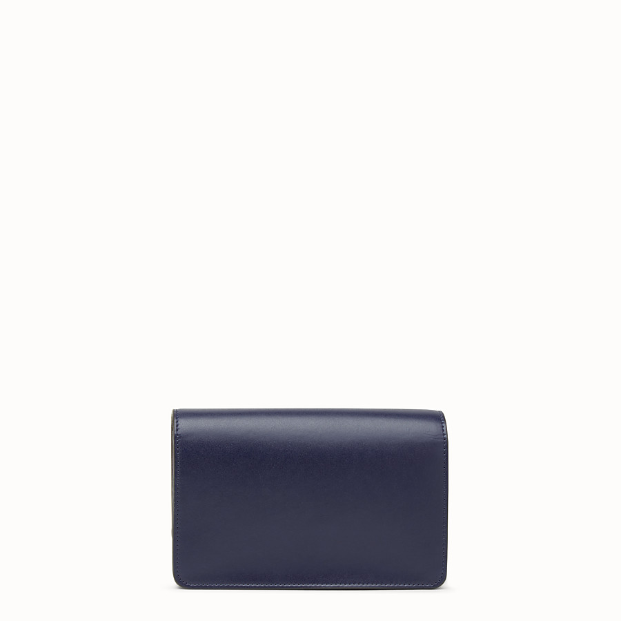 FENDI WALLET ON CHAIN - Mini-bag in blue leather with studs - view 3 detail