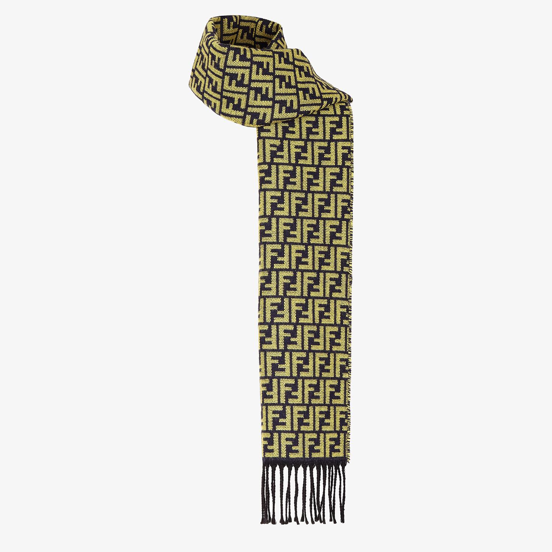 FENDI SCARF - Multicolor wool scarf - view 2 detail