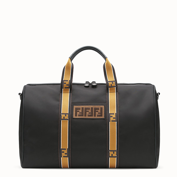 FENDI SATCHEL - Black nylon bag - view 1 small thumbnail