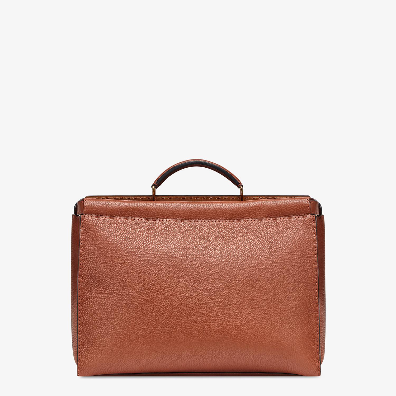 FENDI PEEKABOO ICONIC MEDIUM - Brown leather bag - view 3 detail