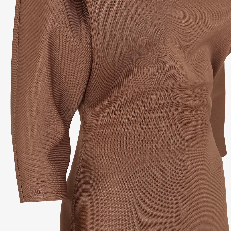 FENDI DRESS - Brown piqué jersey dress - view 3 detail