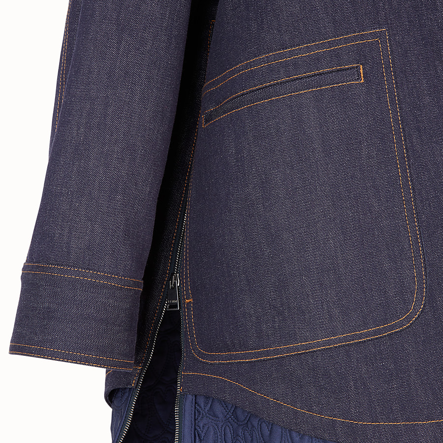 FENDI PARKA - Blue denim parka - view 3 detail
