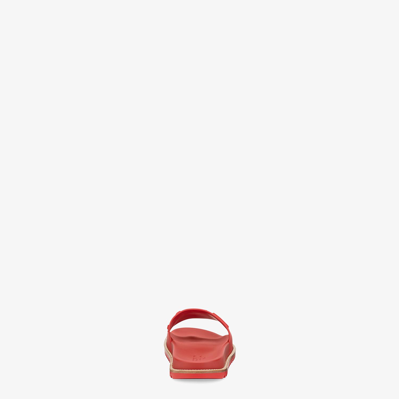 FENDI SLIDES - Red TPU fussbetts - view 3 detail