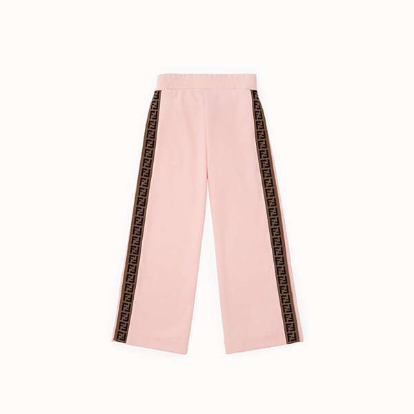 FENDI TROUSERS - Pink tech fleece trousers - view 1 small thumbnail