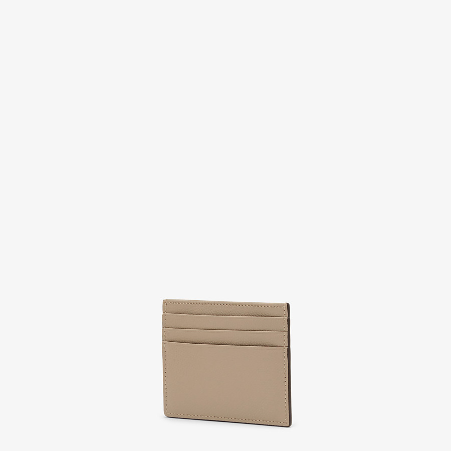 FENDI CARD HOLDER - Flat beige leather card holder - view 2 detail
