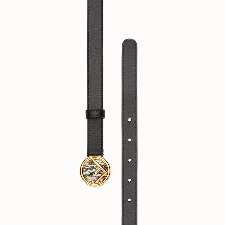 FENDI F IS FENDI BELT - Black leather belt - view 2 detail