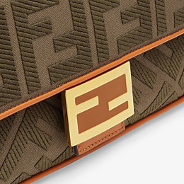 FENDI BAGUETTE - Green canvas bag - view 6 thumbnail