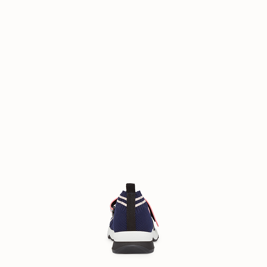 FENDI SNEAKERS - Blue fabric sneakers - view 3 detail