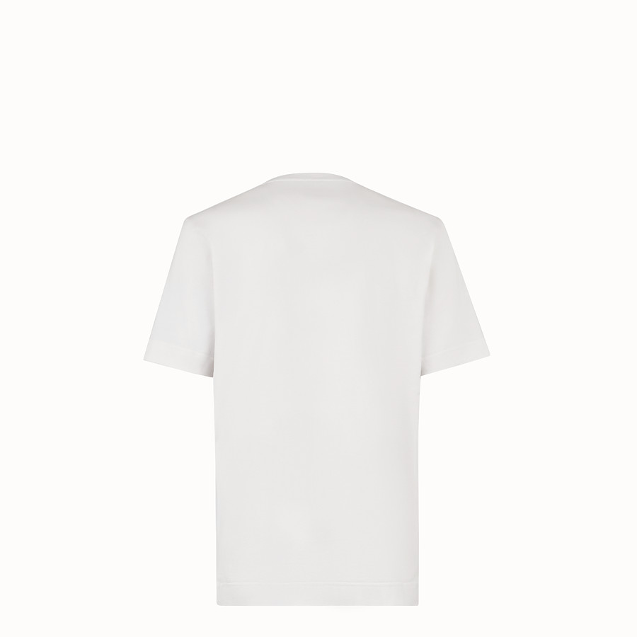 FENDI Tシャツ - マルチカラーのコットンジャージーTシャツ。 - view 2 detail