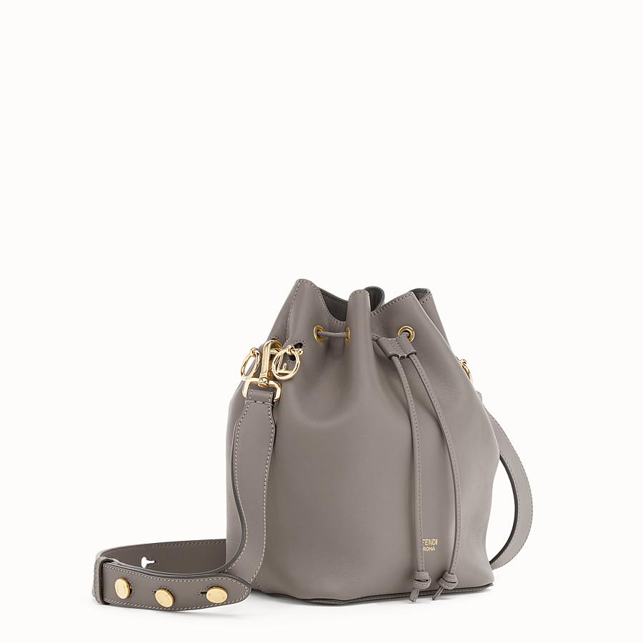 FENDI MON TRESOR - Grey leather bag - view 2 detail